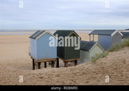 Cabines de plage, wells-next-the-Sea, North Norfolk, Angleterre Photo Stock