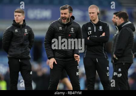 NICKY CROWLEY, FC Everton V LINCOLN CITY, unis en FA Cup, GOODISON PARK, Everton, en Angleterre, 05 Janvier 2019 Photo Stock