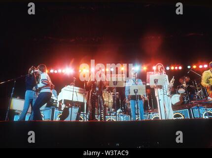 À propos de groupe rock US CHICAGO 1975 à Los Angeles, Californie. Photo: Jeffrey Mayer Photo Stock