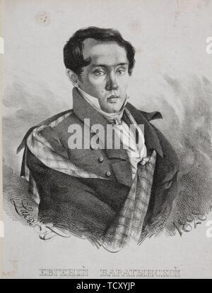 Portrait du poète Evgueni Abramovitch Baratynsky (1800-1844), 1828. On trouve dans la collection de musée d'état de A.S. Pouchkine, Moscou. Photo Stock