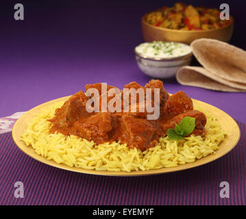 Repas indien Curry de Boeuf Photo Stock
