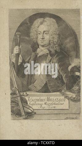 Portrait de Jozef Wandalin Mniszech (1670-1747) , avant 1734. Collection privée. Photo Stock