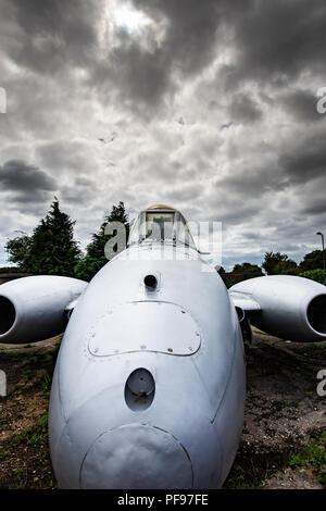 Le Gloster Meteor a été le premier chasseur à réaction britannique et les avions à réaction uniquement pour réaliser les opérations de combat pendant la Seconde Guerre mondiale. Le M Photo Stock