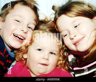 Frères et sœurs Photo Stock