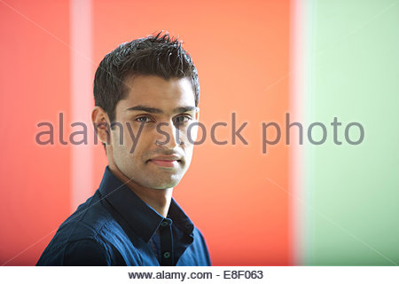 Homme au bureau Photo Stock