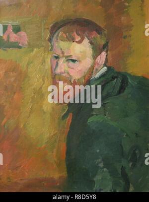 Autoportrait, c1913. On trouve dans la collection de Kunsthaus Z&#xfc;riche. Photo Stock