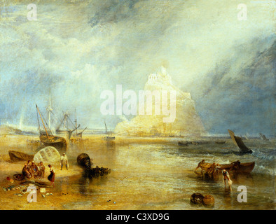 St Michael's Mount, par J.M.W.Turner. Cornwall, Angleterre, 1824 Photo Stock