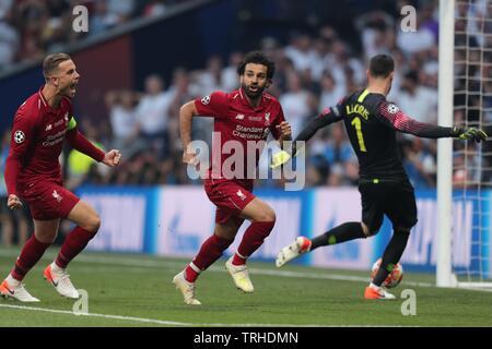 JORDAN HENDERSON, Mohamed Salah, Hugo Lloris, Tottenham Hotspur FC V LIVERPOOL FC finale de Champions League 2019, 2019 Photo Stock