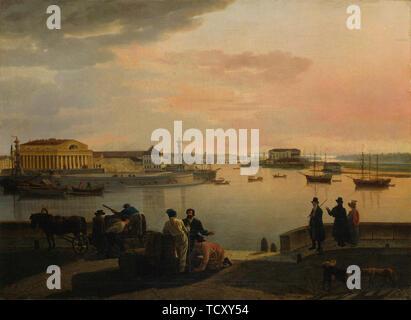 Une vue de Saint Petersburg , 1817. On trouve dans la collection de Sinebrychoffin Taidemuseo, Helsinki. Photo Stock