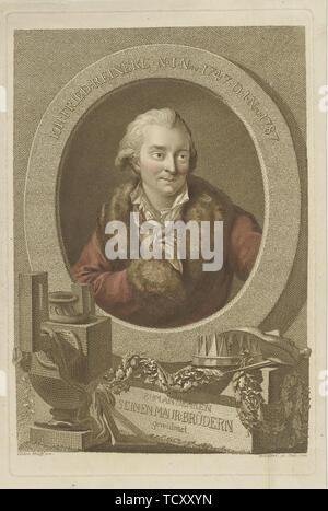 Portrait de Johann Friedrich Reinecke (1745-1787) , 1788. Collection privée. Photo Stock