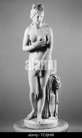 Vénus Capitoline (copie romaine d'un original grec), MI 2ème cen. AD. On trouve dans la collection de Museo Archeologico Nazionale di Napoli. Photo Stock