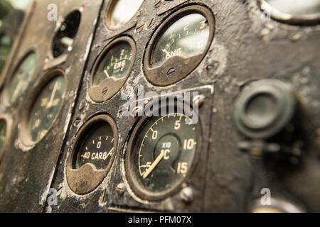 Vieux cadrans de pilotage Photo Stock