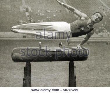 Photographie d'Istvan PELLE (1907 - 1986) au Jeux Olympiques de 1932. Photo Stock
