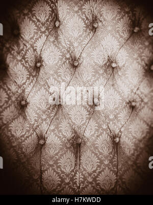 Chaise Vintage tissu en close up. Motif de textile. De vieux meubles avec motif. Photo Stock