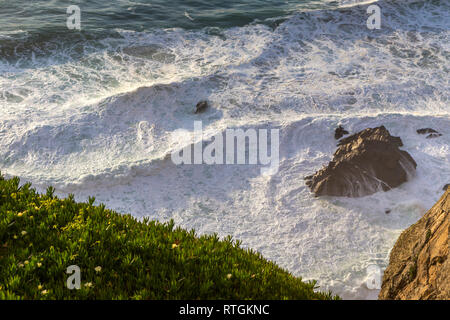 Le Cabo da Roca, le cap Roca, extension la plus occidentale d'Europe continentale, près de Lisbonne, Portugal Photo Stock