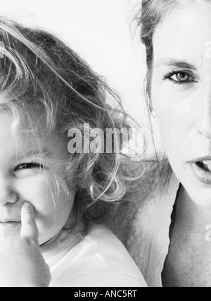 Adulte et enfant Photo Stock