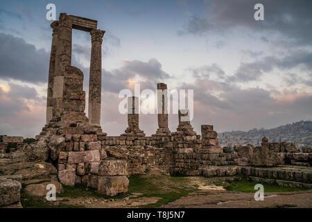 Temple d'Hercule, Amman, Jordanie Photo Stock