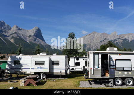 Locations de RV Canadian Rockies, Canada Photo Stock