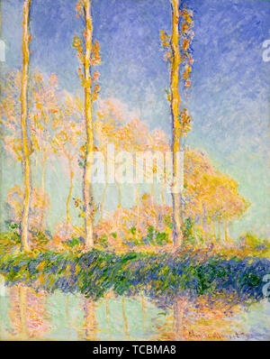 Claude Monet, les peupliers, la peinture de paysages, 1891 Photo Stock