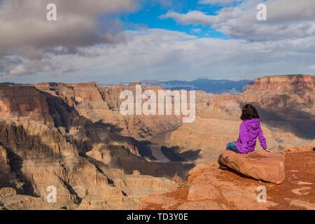 West Rim, Grand Canyon et la rivière Colorado, UNESCO World Heritage Site, Arizona, États-Unis d'Amérique, Amérique du Nord Photo Stock