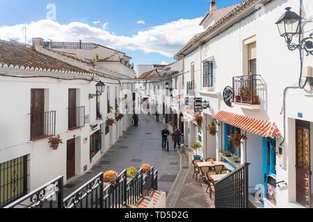 Vieux village blanc de Mijas, à la province de Malaga, Andalousie, Espagne, Europe Photo Stock