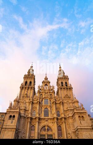 L'Espagne, la Galice, Santiago de Compostela, cathédrale. Site du patrimoine mondial de l'UNESCO Photo Stock
