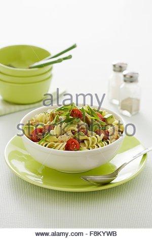 Salade de poulet et d'avocat Photo Stock