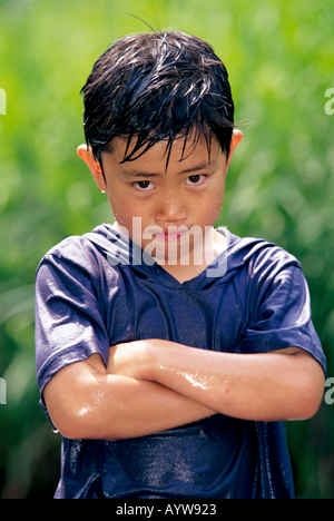 Trempage humide garçon Photo Stock