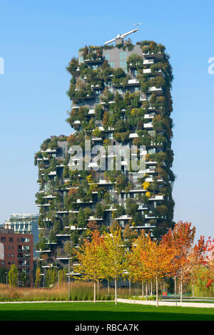 Bosco verticale, Milan, Lombardie, Italie Photo Stock