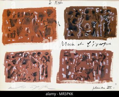 Marie et l'ivrogne Marie et la Bu) par André Masson, (1896 - 1987), artiste français, associés avec le surréalisme, et de dessin automatique. Photo Stock