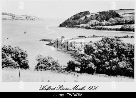 La bouche de la rivière Helford, Cornwall. Date: 1930 Photo Stock