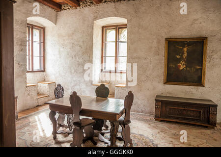 Géographie / voyages, Italie, Tyrol du Sud, dans la salle de Château Taufers dans la région de sand Photo Stock
