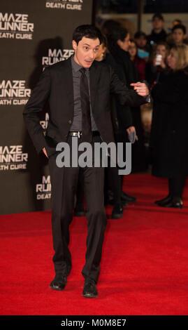 Londres, Royaume-Uni. 22 janvier, 2018. Wes Ball assiste à la 'Maze Runner: la peine de guérir' Photo Stock