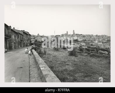 Toscane Siena Montalcino Vues générales, c'est mon l'Italie, l'Italie Pays de l'histoire visuelle, non identifiés dans les structures médiévales du centre-ville Photo Stock