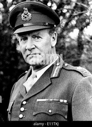 Déc 07, 1979; Londres, Royaume-Uni; d'officier général commandant de l'armée de District sud-ouest, le Major général JOHN ACLAND, a été nommé à la tête de la force du Commonwealth pour surveiller le cessez-le-feu au Zimbabwe Rodhesia. Photo Stock