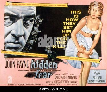 La peur cachée 1957 United Artists film avec Anne Neyland Photo Stock