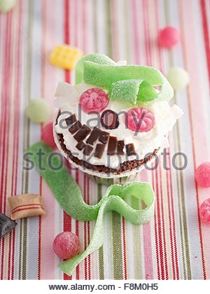 Cupcake monstre Photo Stock