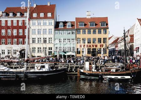 L'architecture historique, Nyhavn, Copenhague, Danemark Photo Stock