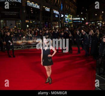 Londres, Royaume-Uni. 22 janvier, 2018. Kaya Scodelario assiste à la 'Maze Runner: la peine de guérir' Photo Stock