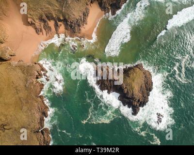 Le meurtre le trou. Melmore Point sur la péninsule Rosguill dans nord du Donegal. Photo Stock