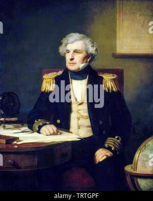 Le Capitaine James Clark Ross, 1800-1862, portrait, 1871 Photo Stock
