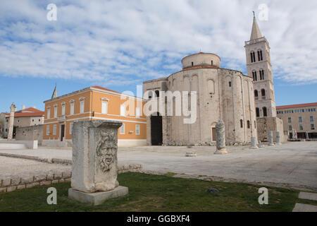Géographie / voyages, Croatie, Dalmatie, Zadar, centre historique de la ville, vestiges romains, Additional Photo Stock