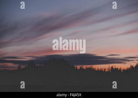 Fine art photo d'un coucher du soleil au Canada Photo Stock
