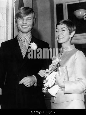 L'acteur Michael York est marié à Patricia McCallum en 1968. Photo Stock