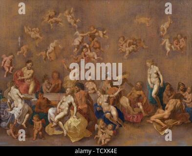 La fête des dieux, 1600. On trouve dans la Collection d'Nivaagaards Malerisamling. Photo Stock