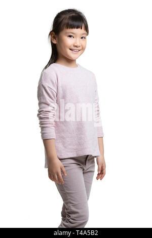 Portrait of happy little girl Photo Stock