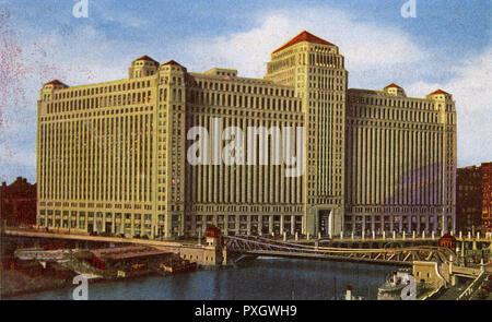 Chicago, Illinois, USA - Le Merchandise Mart Date : vers 1942 Photo Stock