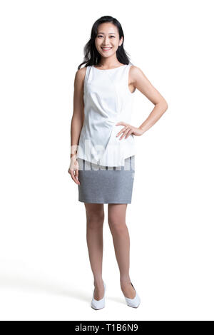 Portrait of young beautiful businesswoman Photo Stock
