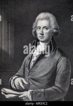 Portrait de William Pitt, comte de Chatham (1708-1778) un homme d'État britannique du groupe Whig qui a dirigé le gouvernement de la Grande-Bretagne. En date du 18e siècle Photo Stock