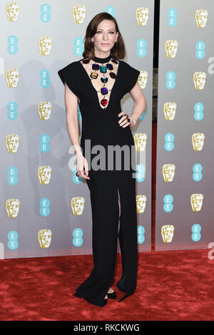 Londres, Royaume-Uni. 10 fév, 2019. Londres, Royaume-Uni. 10 février 2019 : Cate Blanchett arrivant pour le BAFTA Film Awards 2019 au Royal Albert Hall, Londres. Photo : Steve Sav/Featureflash Crédit : Paul Smith/Alamy Live News Photo Stock
